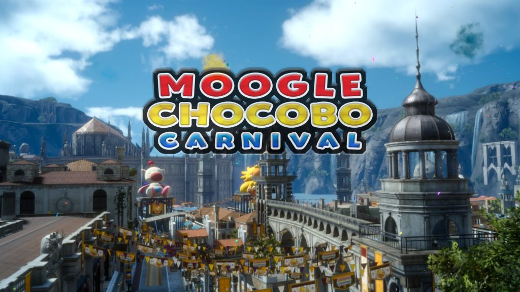FF15のDLC『モグチョコカーニバル』で発生する『モグチョコシャッターチャレンジ』のイメージ画像です。