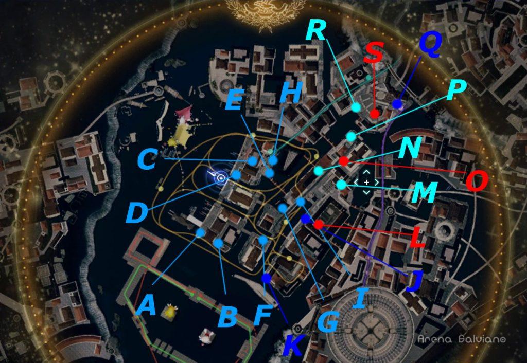 モグチョコカーニバルのドロップアイテムの全体マップです。