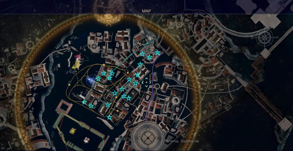 FF15の無料DLC『モグチョコカーニバル』で入手可能なモグチョコメダルの全体マップです。