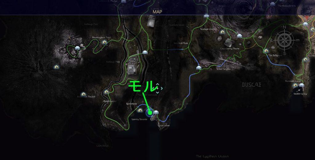 第2回目のタイムドクエスト(モルボル)の全体マップです。