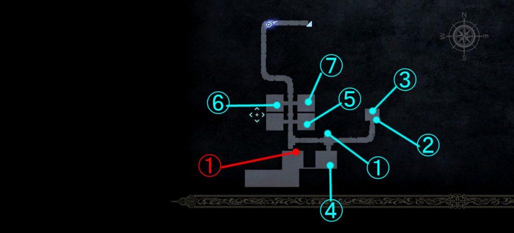 ダンジョン「ジグナタス要塞」の全体マップ⑤です。