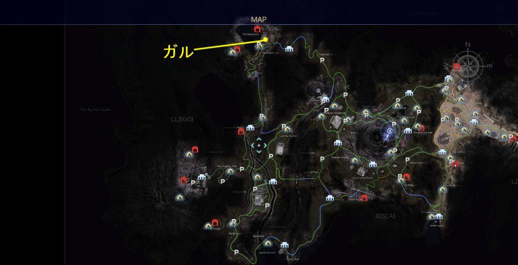 FF15のタイムドクエストの第10回目『第3回 ハンティング』の全体マップです。