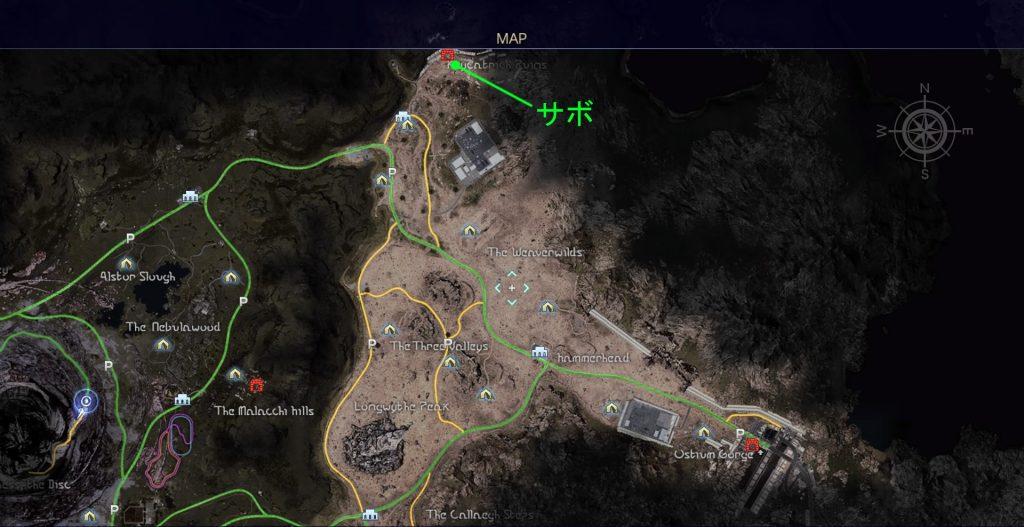 FF15のタイムドクエスト『第12回 タイムアタック』の全体マップです。