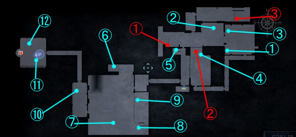 ダンジョン「ジグナタス要塞」の全体マップ②です。