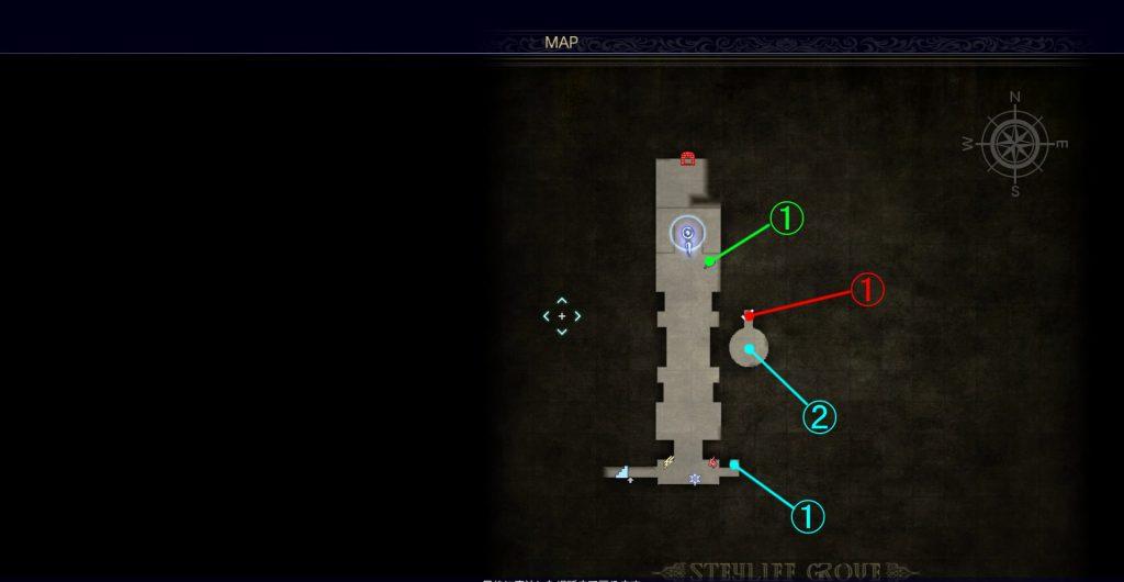 ダンジョン「スチリフの社」の内部マップ⑤です。