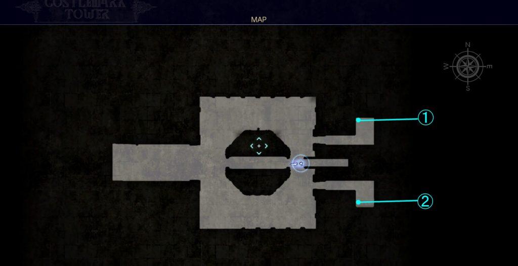 ダンジョン「コースタルマークタワー」のマップ①です。