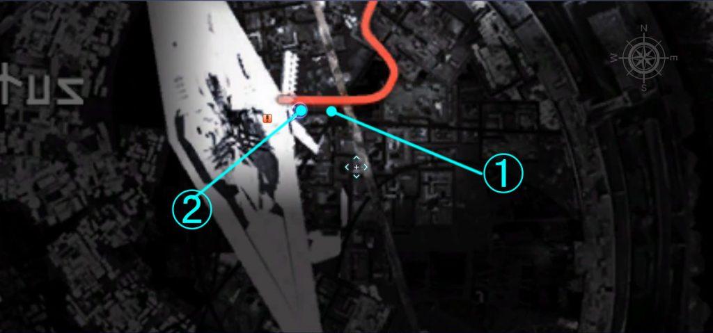 ダンジョン「ジグナタス要塞」の全体マップ①です。