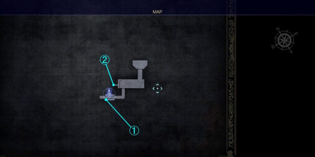ダンジョン「クラストゥルム水道」の内部マップ⑤です。