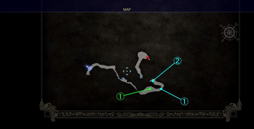 ダンジョン「ドロール洞窟」のマップ③です。