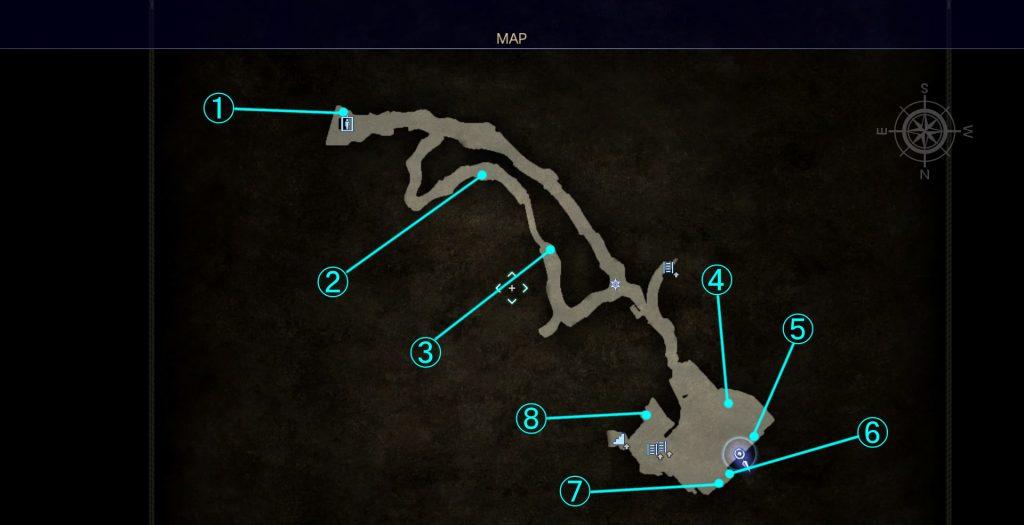 ダンジョン「バルーバ採掘場」の内部マップ④です。