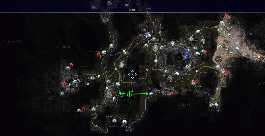 FF15のタイムドクエスト『第8回 タイムアタック』の全体マップです。
