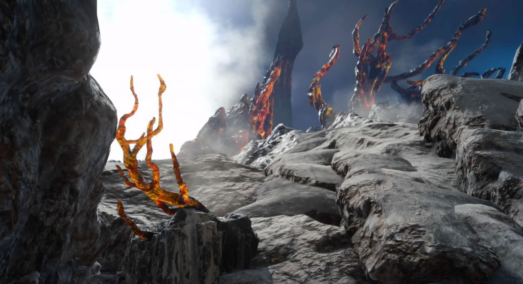 ダンジョン「ラバティオ火山」のイメージ画像です。