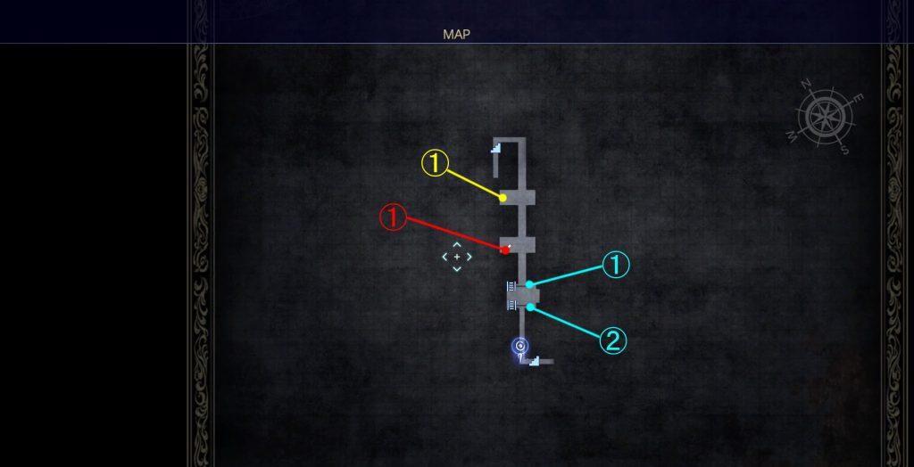 FF15のダンジョン「クラストゥルム水道」のマップ②の画像です。