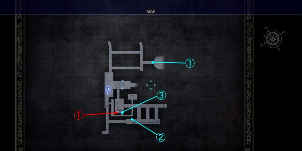 ダンジョン「クラストゥルム水道」の内部マップ④です。