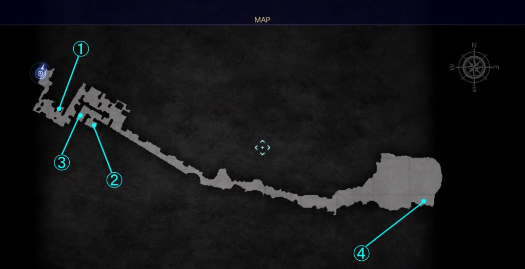 インソムニアの見える丘の全体マップです。