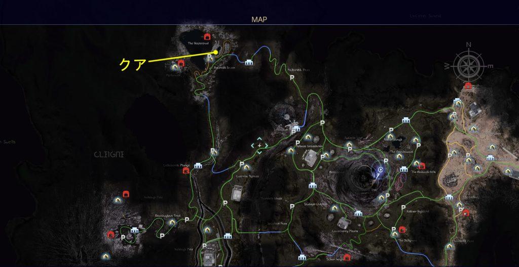 FF15のタイムドクエスト『第7回 タイムアタック』(クアール)の全体マップです。