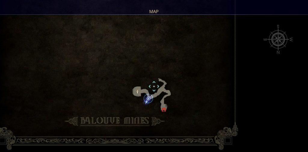 ダンジョン「バルーバ採掘場」の内部マップ⑤です。