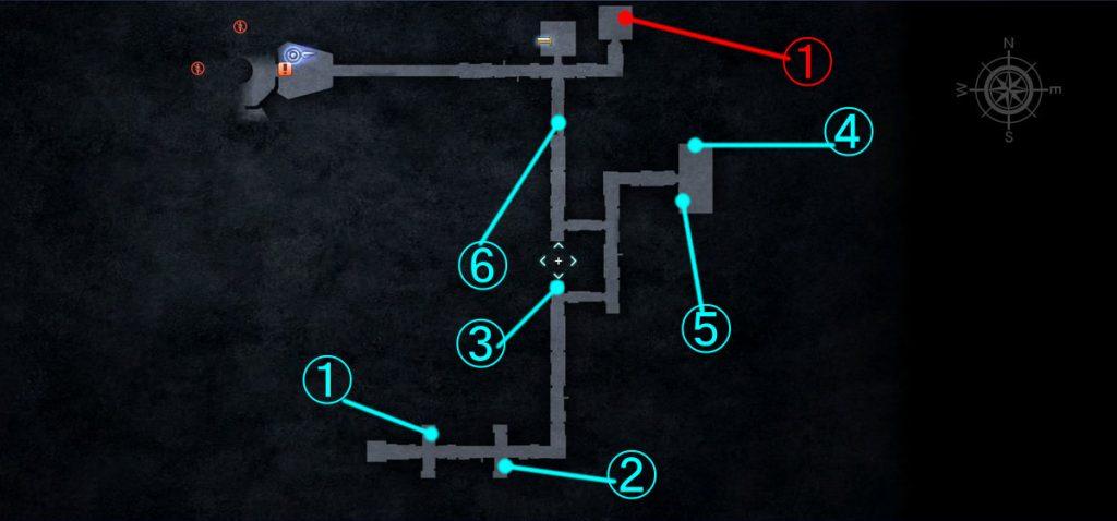 ダンジョン「ジグナタス要塞」の全体マップ③です。