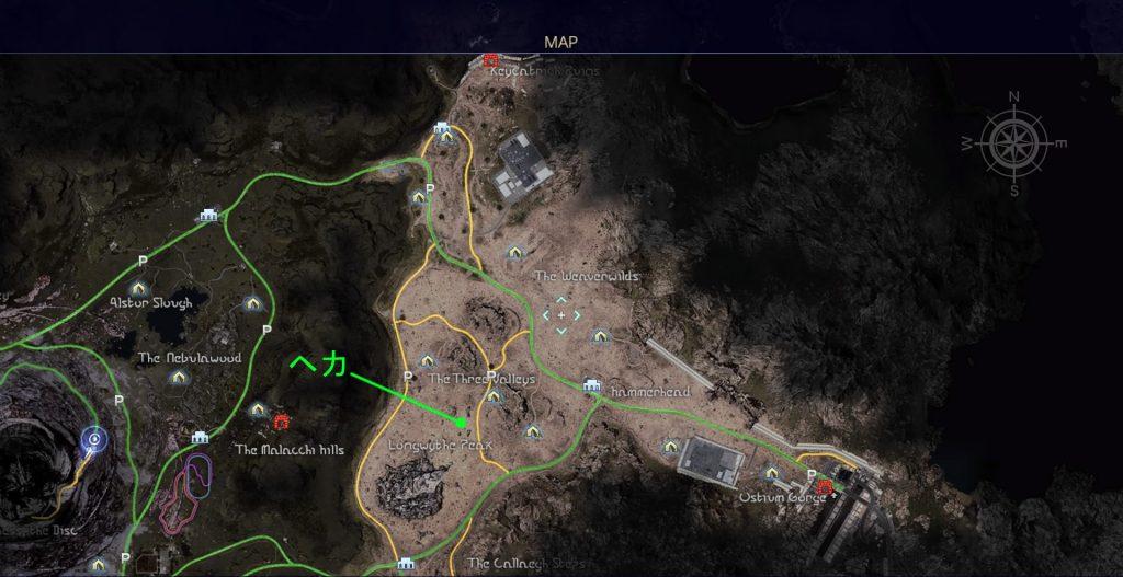 FF15のタイムドクエスト『第11回 タイムアタック』の全体マップです。