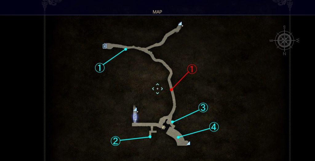 ダンジョン「バルーバ採掘場」の内部マップ②です。