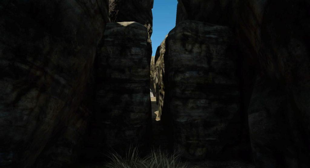 北ダスカ封鎖線の裏道のイメージ画像です。