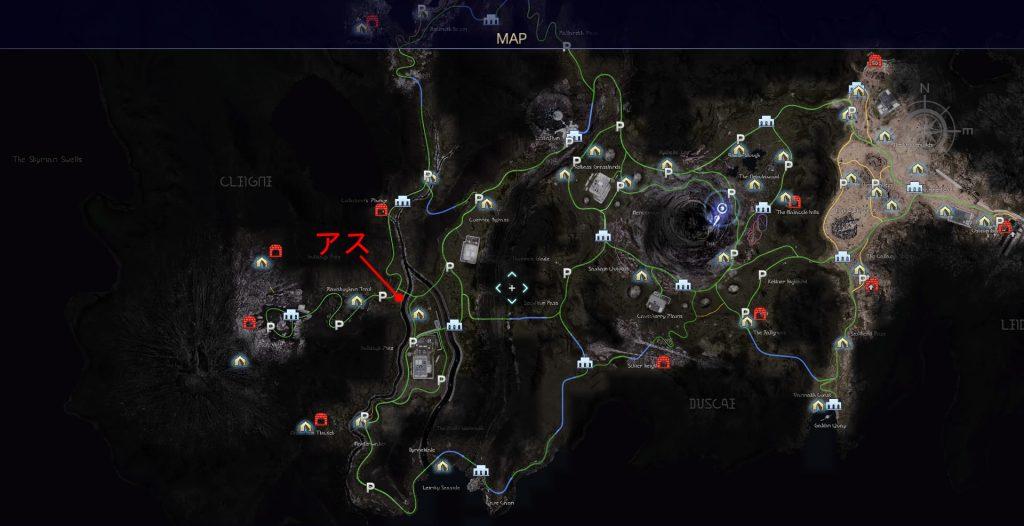 FF15のタイムドクエスト『第4回 タイムアタック』のアスピドケロンのマップです。
