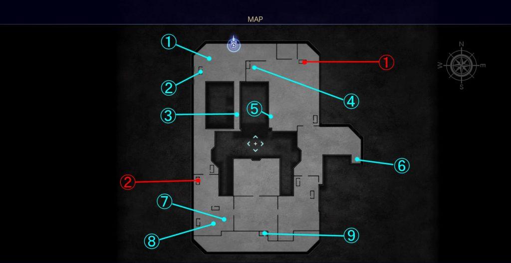 ヴォラレ基地内のマップです。