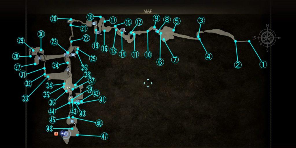エピソードグラディオラスのトロフィー「すべてを拾いし者」の全体マップです。