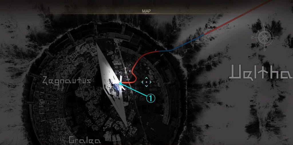 グラディオラスルートのアイテムマップ①です。