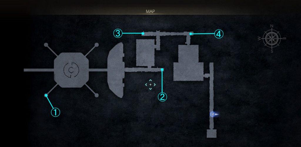 グラディオラスルートの要塞内マップ⑤(フォラス出現エリア)の画像です。