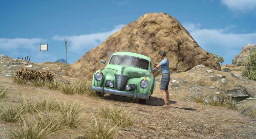 FF15のサブクエスト『故障車修理クエスト(リード地方)』のイメージ画像です。