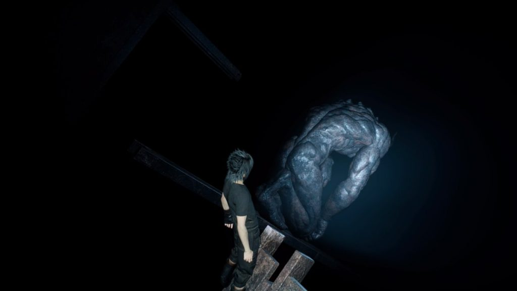 FF15のダンジョン「プティウォス遺跡」攻略(暗闇エリア)のイメージ画像です。