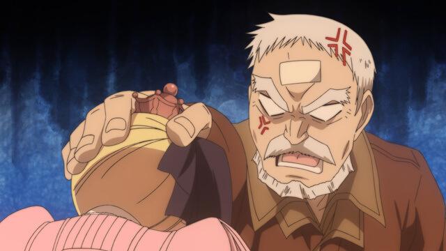アニメ「アリスと蔵六」の蔵六が怒っている画像です。