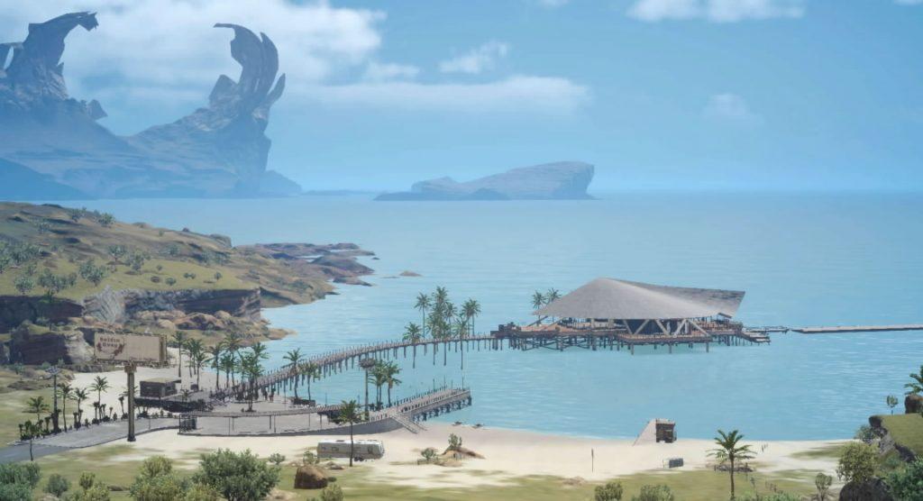 FF15の『討伐依頼(モブハント)』のガーディナ渡船場のイメージ画像です。