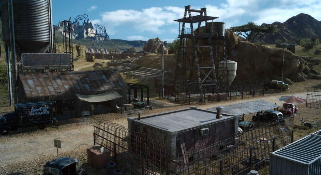 FF15の荒野の宿営地にて回収できるドロップアイテムのイメージ画像です。
