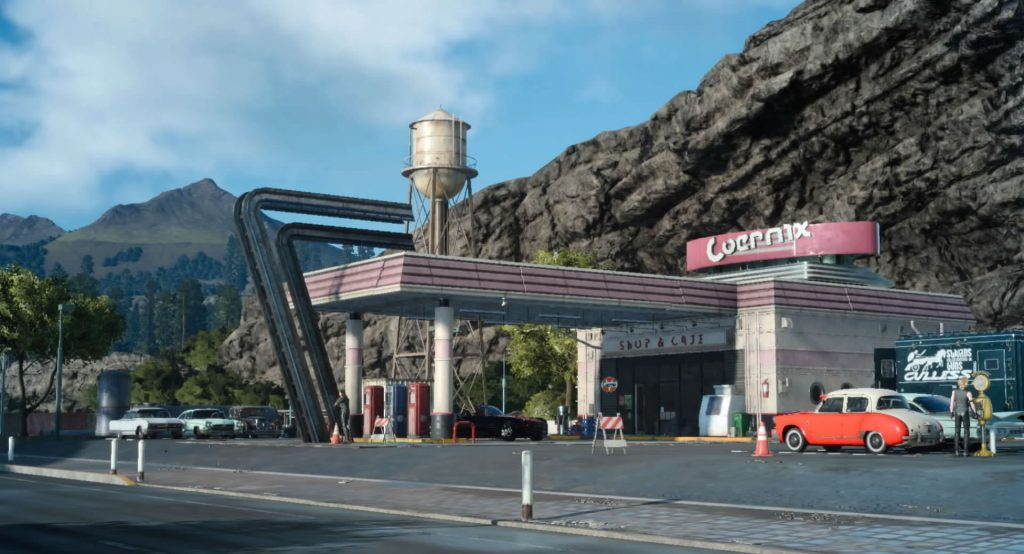 FF15のコルニクス鉱油カーテス支店にて回収できるドロップアイテム一覧のイメージ画像です。