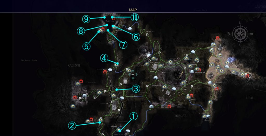 FF15の各釣り場の魚一覧表(クレイン地方)のイメージ画像です。