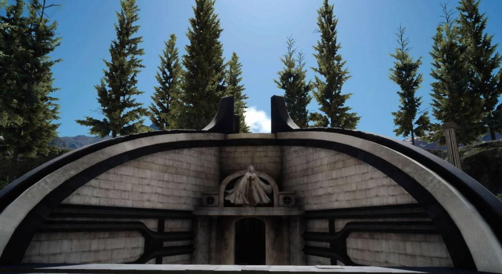 FF15のビブから受注可能なサブクエスト『神話特集-神々とルシス王家-』で撮影する『覇王の墓所』です。
