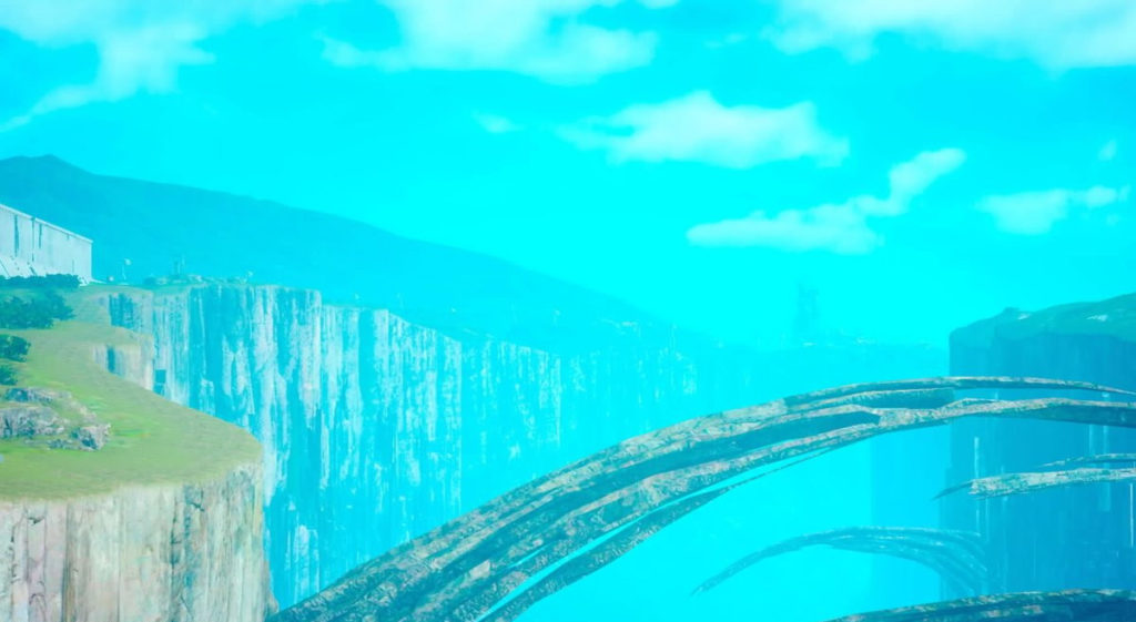 FF15のビブから受注可能なサブクエスト『神話特集-神代の魔大戦-』で撮影する『テルパの爪跡』です。