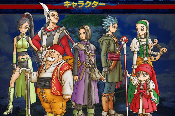 ドラクエ11の登場キャラクター一覧のイメージ画像です。
