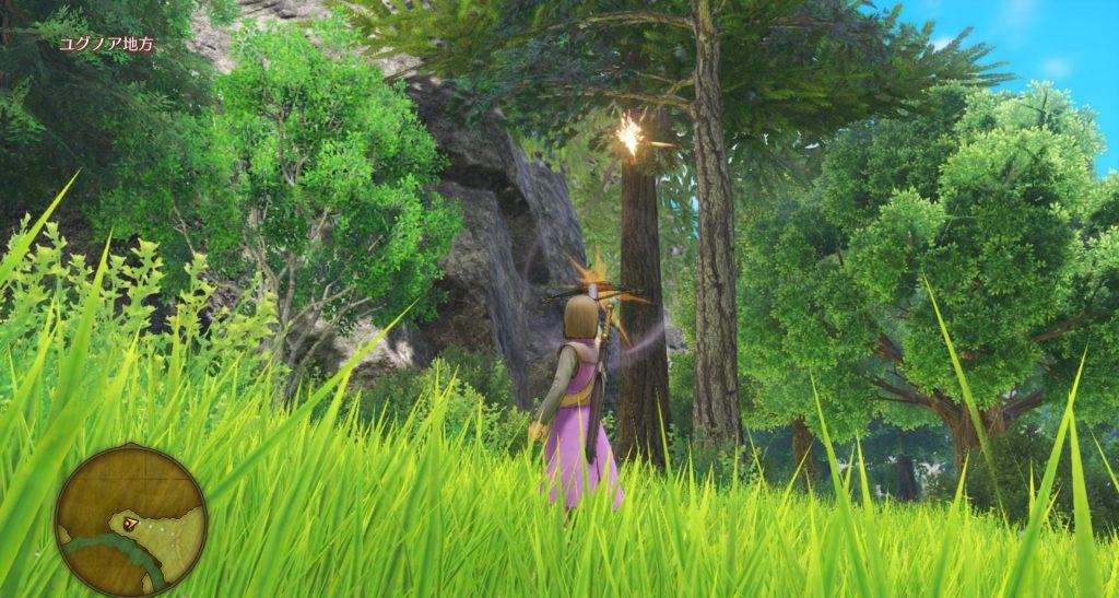 ドラゴンクエスト11のミニゲーム『ボウガンアドベンチャー』の『ナプガーナ密林』のイメージ画像です。