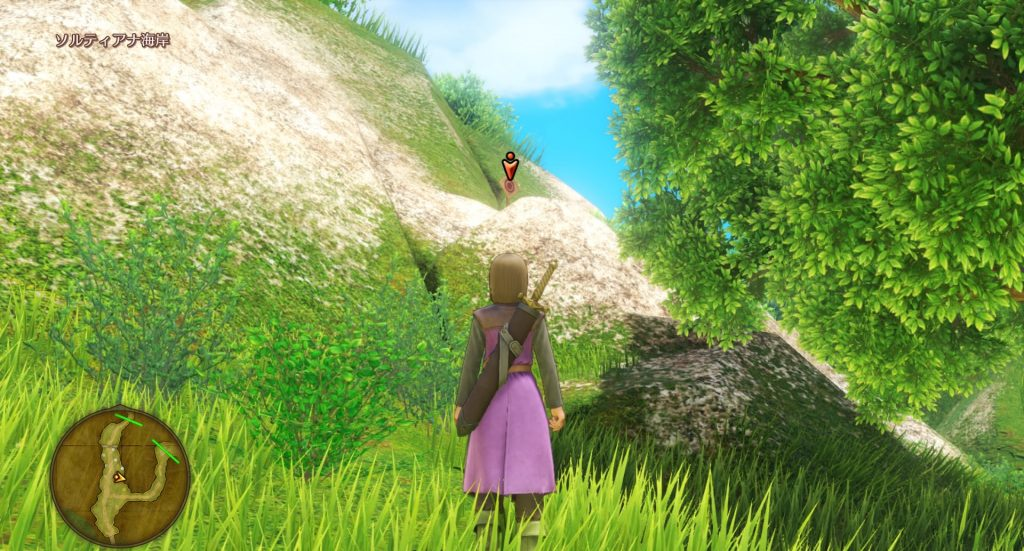 ドラゴンクエスト11のミニゲーム『ボウガンアドベンチャー』の『ソルティアナ海岸』のマト⑤です。