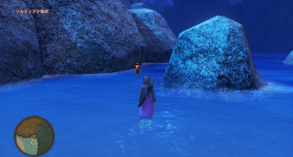ドラゴンクエスト11のミニゲーム『ボウガンアドベンチャー』の『ソルティアナ海岸』のマト③です。