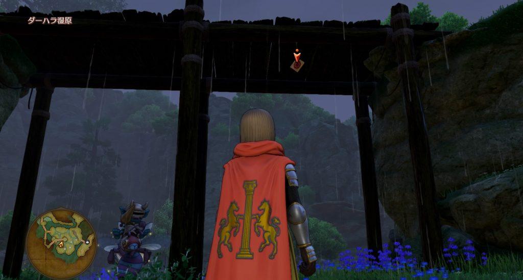 ドラゴンクエスト11のミニゲーム『ボウガンアドベンチャー』の『ダーハラ湿原』のマト④です。
