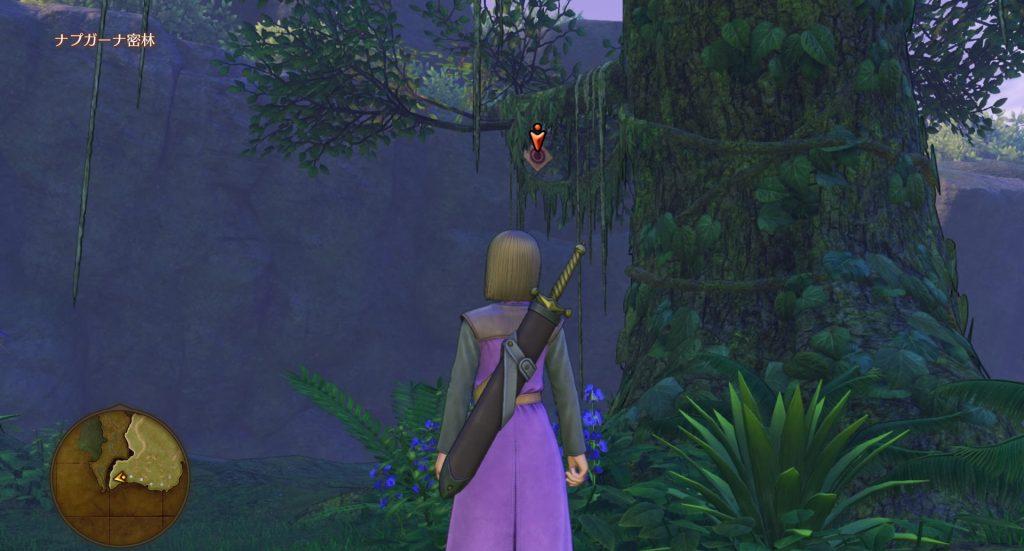 ドラゴンクエスト11の『ボウガンアドベンチャー』で破壊できる『ナプガーナ密林』のマト③です。