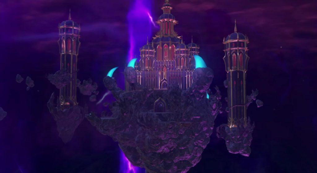 ドラゴンクエスト11のダンジョン『天空魔城』のマップとアイテム一覧のイメージ画像です。