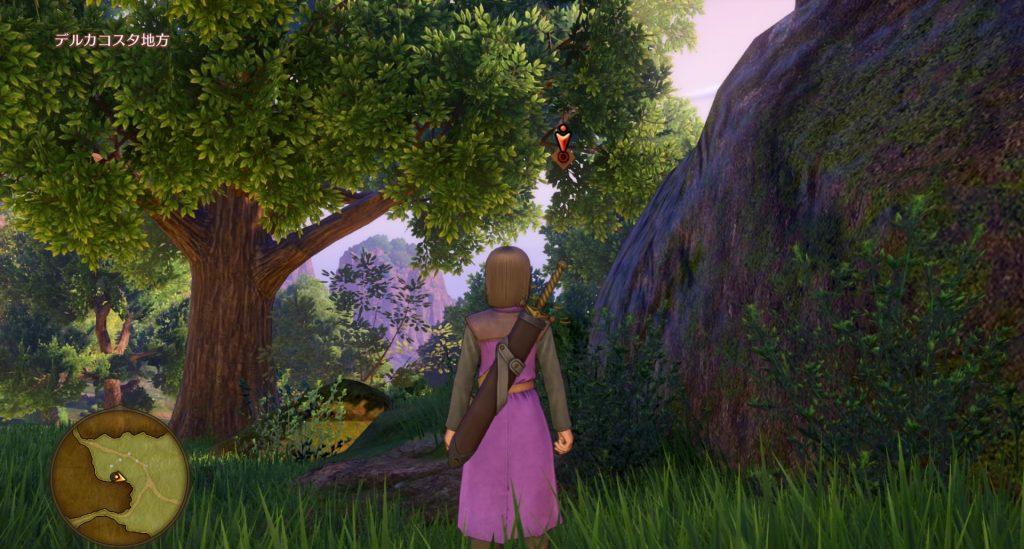 ドラゴンクエスト11のミニゲーム『ボウガンアドベンチャー』の『デルカコスタ地方』のマト①です。
