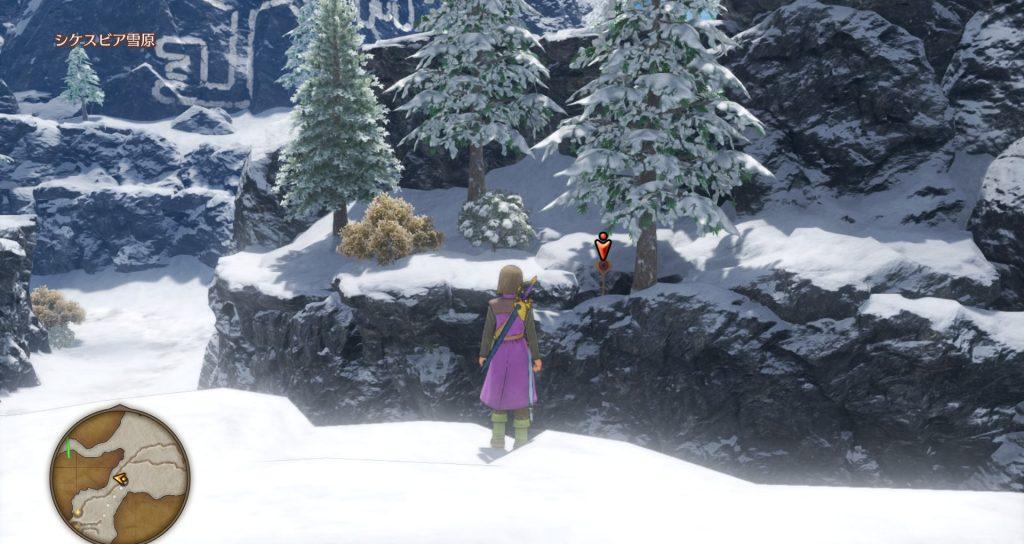 ドラゴンクエスト11のミニゲーム『ボウガンアドベンチャー』の『シケスビア雪原』のマト②です。