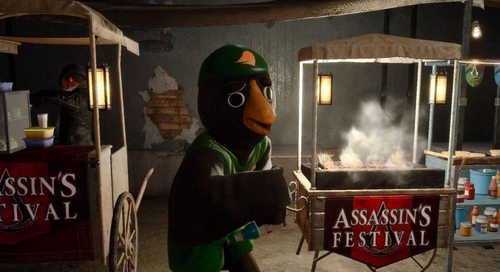 FF15の無料DLC『アサシンズ・フェスティバル』のサブクエスト『トストエル食堂でアルバイト』のイメージ画像です。