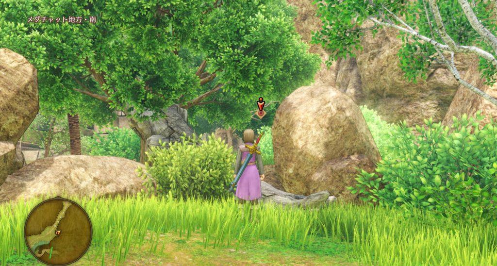 ドラゴンクエスト11のミニゲーム『ボウガンアドベンチャー』の『メダチャット地方』のマト④です。